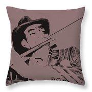 The Jazz Flutist Throw Pillow