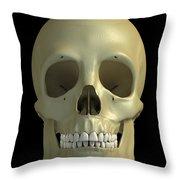 The Skull Throw Pillow