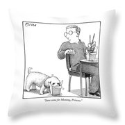 Save Some For Mommy Throw Pillow