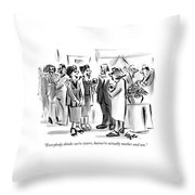 Everybody Thinks We're Sisters Throw Pillow