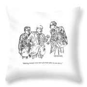 Making Money's Even More Of A Kick When No One Throw Pillow