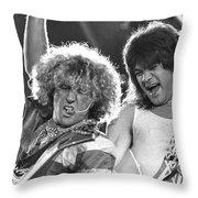 Van Halen - Sammy Hagar With Eddie Van Halen Throw Pillow