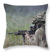 Welsh Guards Training Throw Pillow