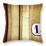 13 With Wooden Door Throw Pillow