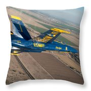 Blue Angel Throw Pillow