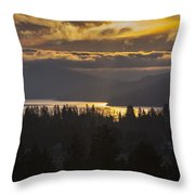 131127a-18 Sandpoint Winter Sunrise Throw Pillow