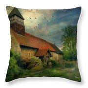 13th Century Church  Throw Pillow
