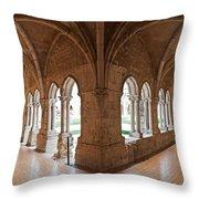 13th Century Gothic Cloister Throw Pillow