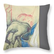 After The Bath Throw Pillow