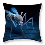 Anopheles Mosquito Throw Pillow