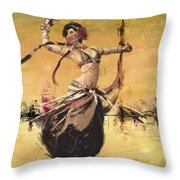 Abstract Belly Dancer 14 Throw Pillow