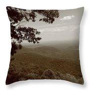 Blue Ridge Mountains - Virginia Sepia 9 Throw Pillow