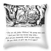 Carroll Alice, 1865 Throw Pillow