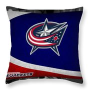 Columbus Blue Jackets Throw Pillow