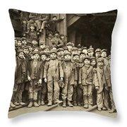 Hine Child Labor, 1911 Throw Pillow