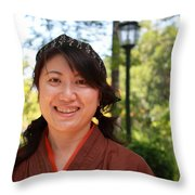 Japanese Women Throw Pillow