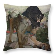 Jungle Book, 1903 Throw Pillow