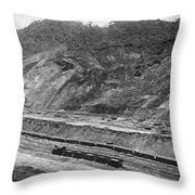 Panama Canal, C1910 Throw Pillow