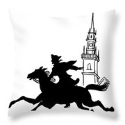 Paul Reveres Ride Throw Pillow