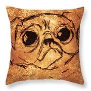 Pug The Dog Throw Pillow