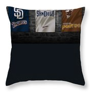 San Diego Padres Throw Pillow