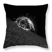 Scabies Mite Throw Pillow