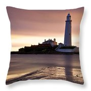 St Marys Lighthouse Throw Pillow