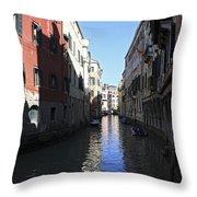 Narrow Canal Venice Italy Throw Pillow