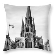 View Of Episcopal Cathedral In Edinburgh Throw Pillow