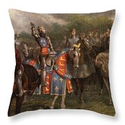 1400s Henry V Of England Speaking Throw Pillow