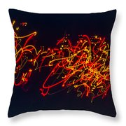 Plowing Snow II Throw Pillow