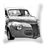 1941 Ford Coupe Throw Pillow