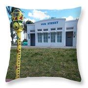 14th Street Bathhouse Throw Pillow
