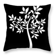 Art Tree Silhouette Throw Pillow