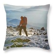 A Summit Intern Hikes The Northwest Throw Pillow