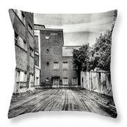 Abandoned Sanatorium Throw Pillow
