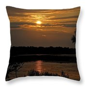 An Outer Banks Of North Carolina Sunset Throw Pillow