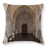 Ancient Spanish Monastery Throw Pillow