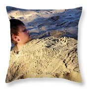 Beach People Throw Pillow