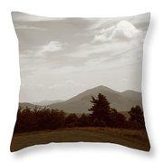 Blue Ridge Mountains - Virginia Sepia 10 Throw Pillow