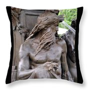 Brewer Fountain Boston Ma Throw Pillow