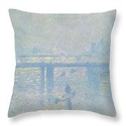 Charing Cross Bridge Throw Pillow