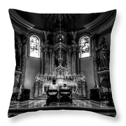 Church Of Saint Agnes Throw Pillow