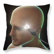 Digital Connection Throw Pillow