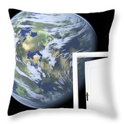 Door To New World Throw Pillow