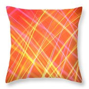 Energy Lines Throw Pillow