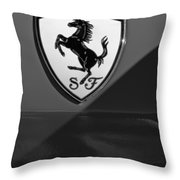 Ferrari Emblem Throw Pillow
