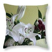 Fresh Cut Flowers Throw Pillow