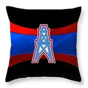 Houston Oilers Throw Pillow