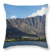 Lake With Mountain Range Throw Pillow